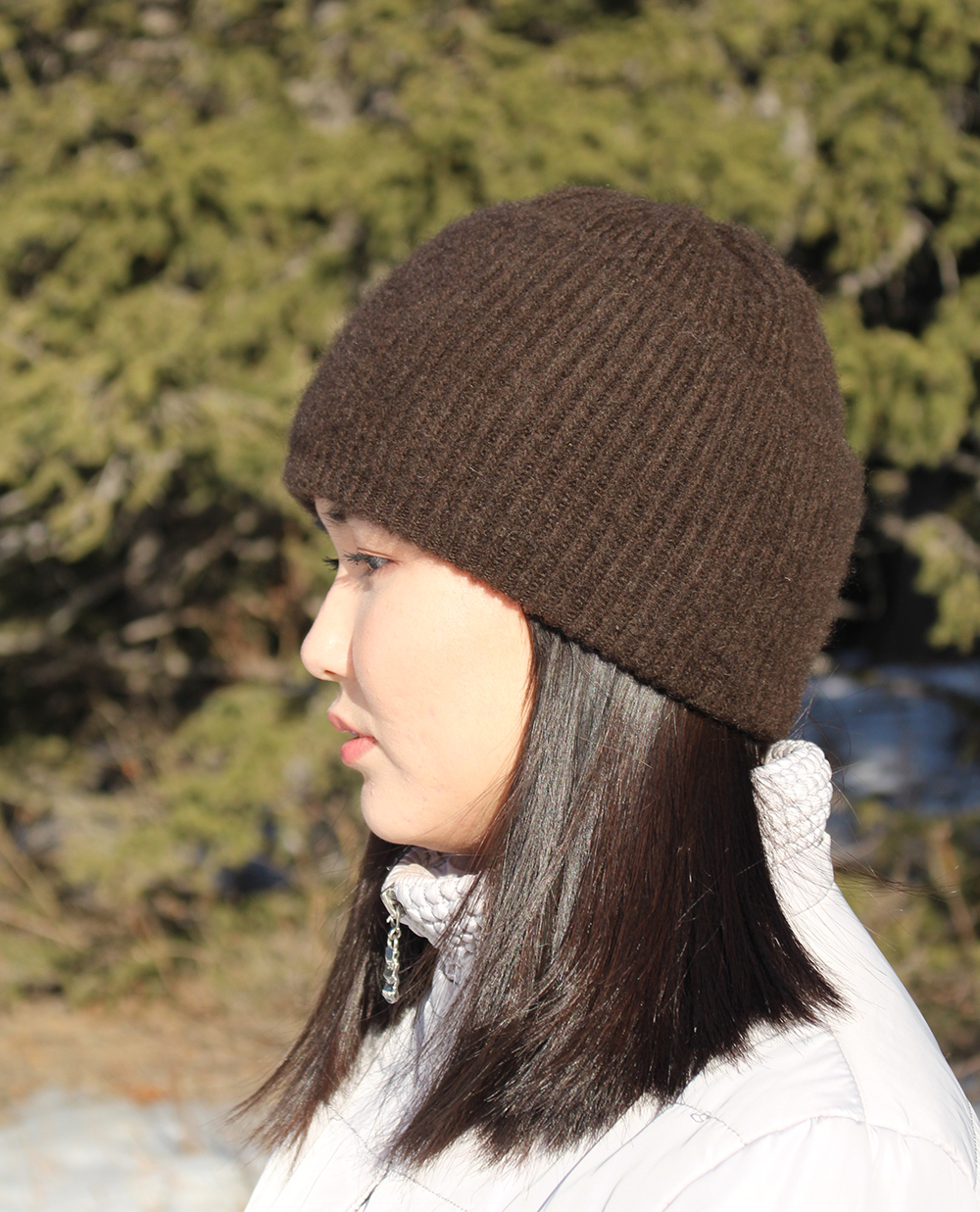 winter hat, cold weather wool hat, wool beanie for women