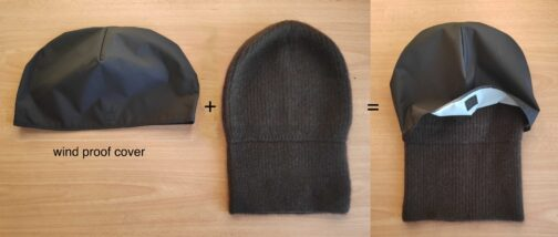 wind proof attachable cover for the yak wool beanie