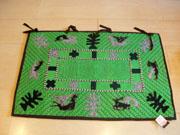 Mongol felt rug (green)