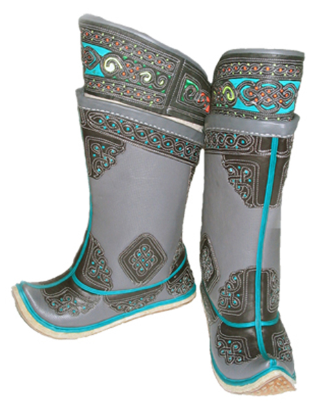 Mongolian boots (grey)