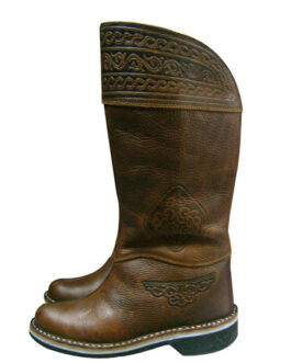 Mongolian buriad ethic boots (brown)