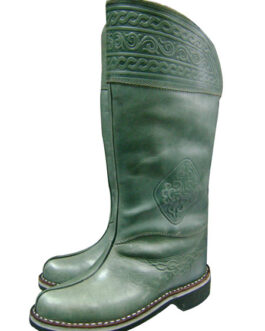 Mongolian buriad ethic boots (green)