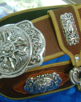 Silver & leather belt
