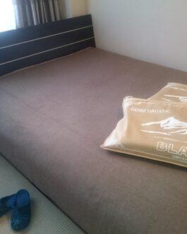 Cashmere blanket 215x185cm, 72x84inch, Gobi Brown