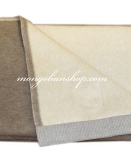 Cashmere blanket Dual color 200x145cm BROWN and BEIGE