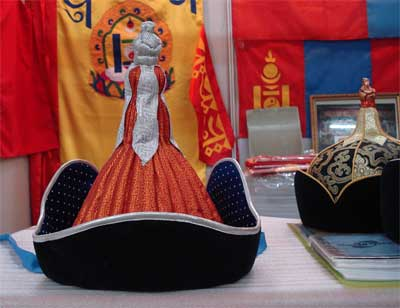 Mongolian men's hat (red)