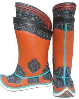 Mongolian  boots (orange)