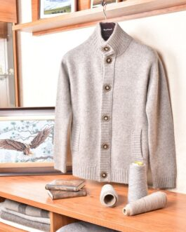 Yak wool cardigan (grey)