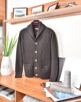 Yak wool cardigan (brown)