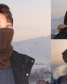 yak wool neck warmer