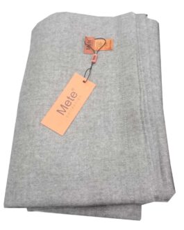 yak wool throw  blanket (grey, trim)
