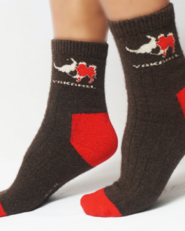Yak wool socks (Mongolian yak wool socks, red toe)
